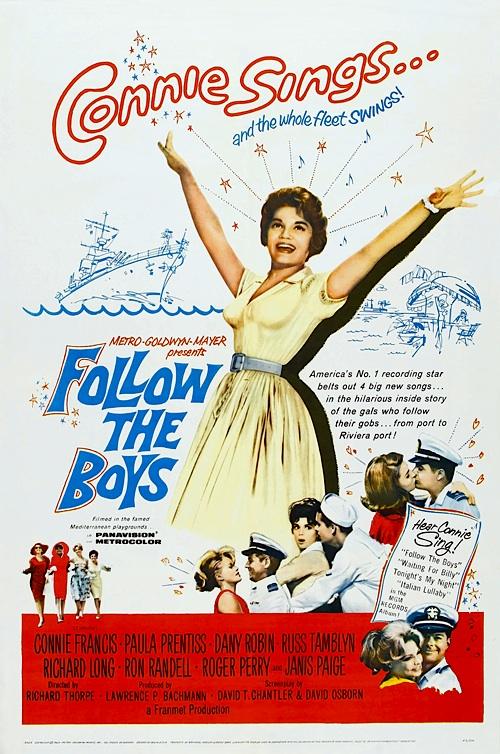 FOLLOW THE BOYS DVD 1963 Movie On DVD Connie Francis Paula