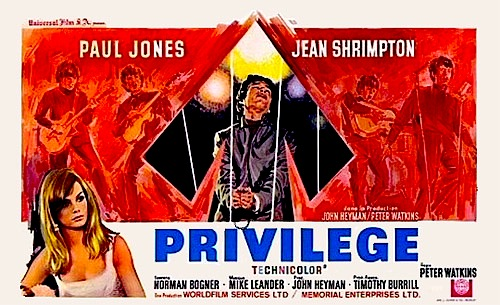privilege dvd 1967 movie on dvd paul jones mod pop