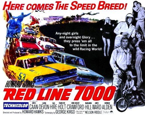 Red line 7000 dvd 1965 movie on dvd stock cars nascar racing