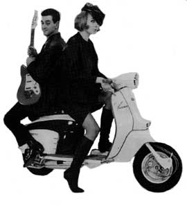 Mods on Scooter...Well, maybe they're not mods but it's a cool photo!