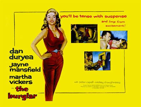 THE BURGLAR DVD - 1959 Movie The Burglar - Film Noir Jayne Mansfield -  Burglar